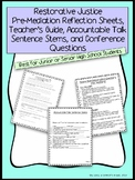 Restorative Justice Reflection Sheets - Middle/High School