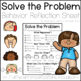 Restorative Practice Solve the Problem Behavior Reflection Sheet (PBIS)