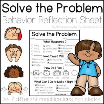 Restorative Practice Solve the Problem Behavior Reflection Sheet (PBIS)