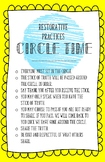 Restorative Practices- Circle Time Rules for Older Kids