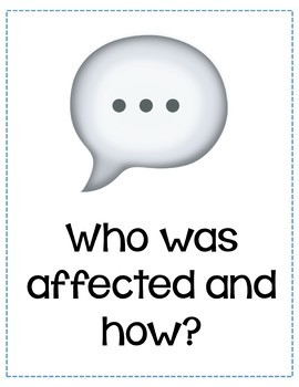 Restorative Practices Reflection Questions Posters