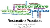Restorative Practices: The What, The Why, The How