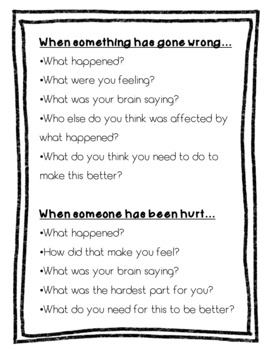 Restorative Practices and De-Escalation Script Mini-Posters and Lanyard Cards