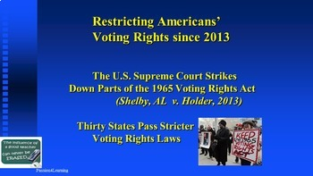 Selma, 1965 Voting Rights Act & Civil Rights Since the Shelby, AL Court Case