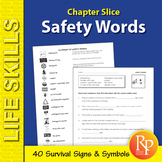 Safety Words Unit: Survival Signs & Symbols Vocabulary