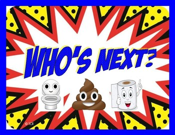 Restroom/Bathroom Management Clothespin System - Who's Next? - Superhero