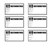 Restroom/Bathroom Passes