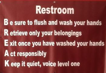 Restroom Break Banner