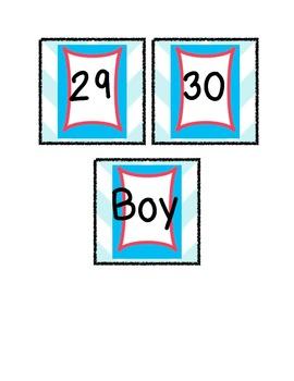Restroom Classroom Management Cards