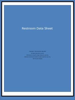 Restroom Data Sheet