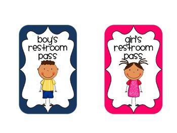 Restroom Pass FREEBIE!!