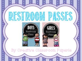 Restroom Passes
