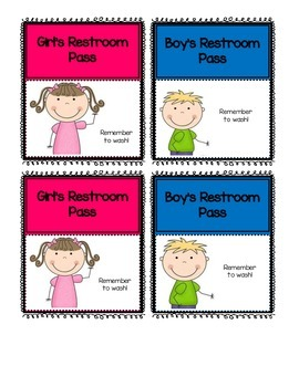 Restroom Passes & Hallway Pass