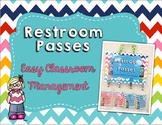 Restroom Passes- Easy Classroom Management