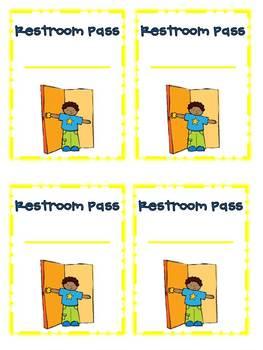 Restroom Passes {Freebie}