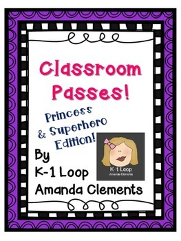 Restroom Passes - Superhero & Princess FREE!