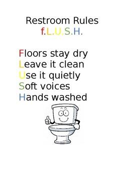 Restroom Rules - Acronym F.L.U.S.H