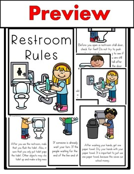 Restroom Rules Class Book (Beginning of School Bathroom Rules)