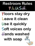 Restroom Rules Poster