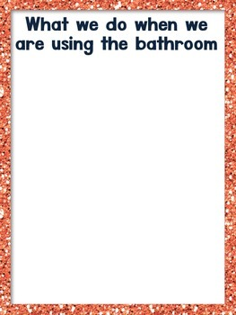 Restroom Rules & Sort (Expected and Unacceptable Behaviors)