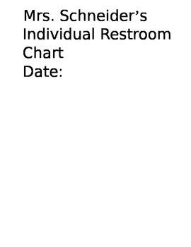 Restroom Tally Log