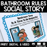 Social Story Bathroom Print Digital Video For Distance Learning