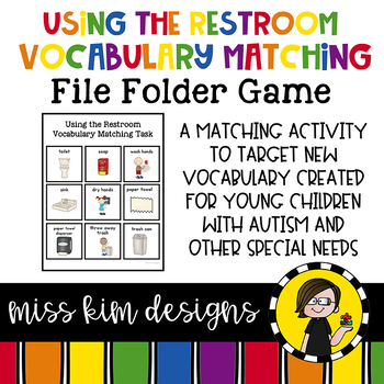 Restroom Vocabulary Folder Game for Special Education