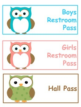 Restroom and Hall Pass