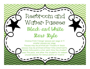 Restroom and Water Pass with Stars