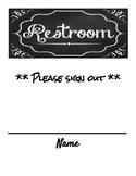Restroom signout