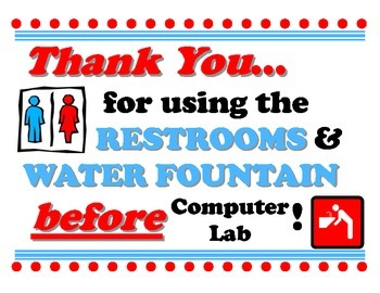 Restrooms Before Computer Lab