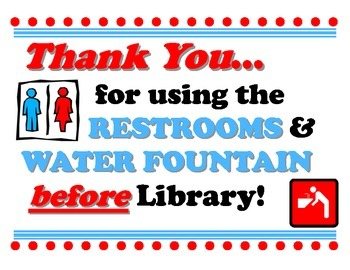 Restrooms Before Library