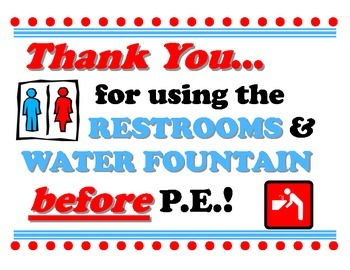 Restrooms Before Phys Ed