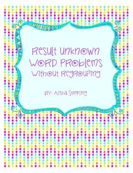 Result Unknown Word Problem Sample Freebie