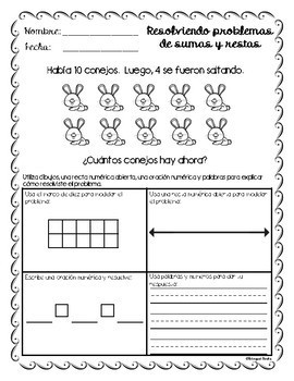 Word Problems to 20 in Spanish