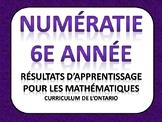 Résultats d'apprentissage 6e année - Mathématiques