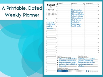 Growth Mindset Planner: A Printable Weekly Planner for Busy Professionals