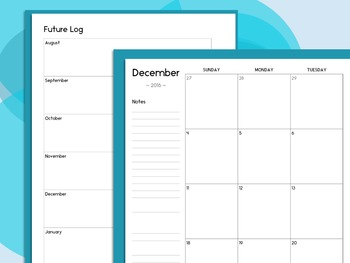 Teacher Planner 2019-2020: A Printable, Dated Weekly Planner   FREE Updates