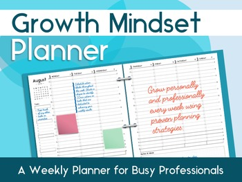 Growth Mindset Planner: A Printable Weekly Planner for Bus