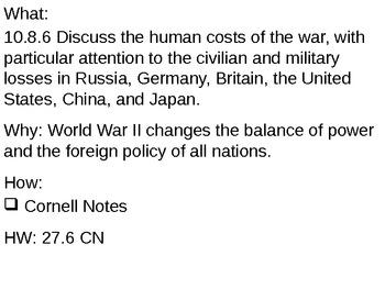 Results of World War II - 27.6 Powerpoint - World War II