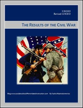 Results of the Civil War Differentiated Instruction Lesson
