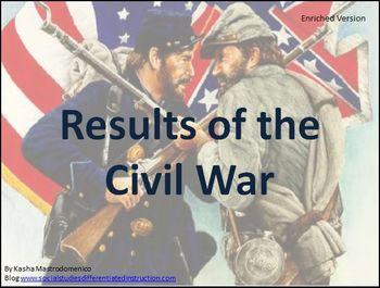 Results of the Civil War Differentiated Instruction PowerPoint