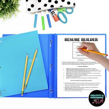 Resume Builder: Graphic Organizer & Google Doc Resume Template Link