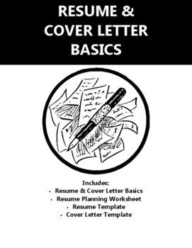 Resume Cover Letter Writing Basics By Real World Life Skills Tpt