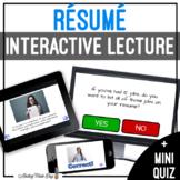 Unit 3 Resume - Digital Interactive Lecture