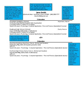 Resume Education Section