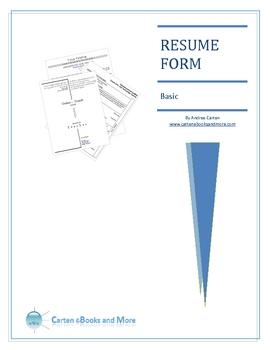 Resume Form  Resume Form