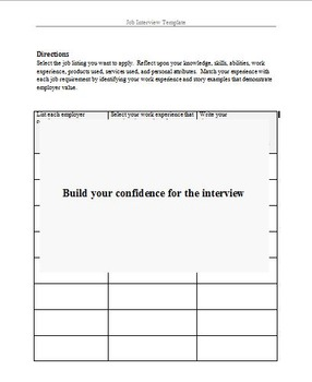 Job Interview Template to Target Employers for the Opportu