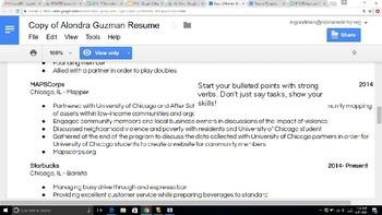Resume Lesson