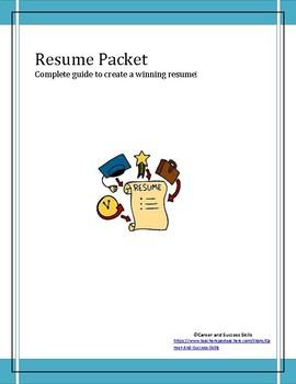 Resume Packet (Kit, Guide)